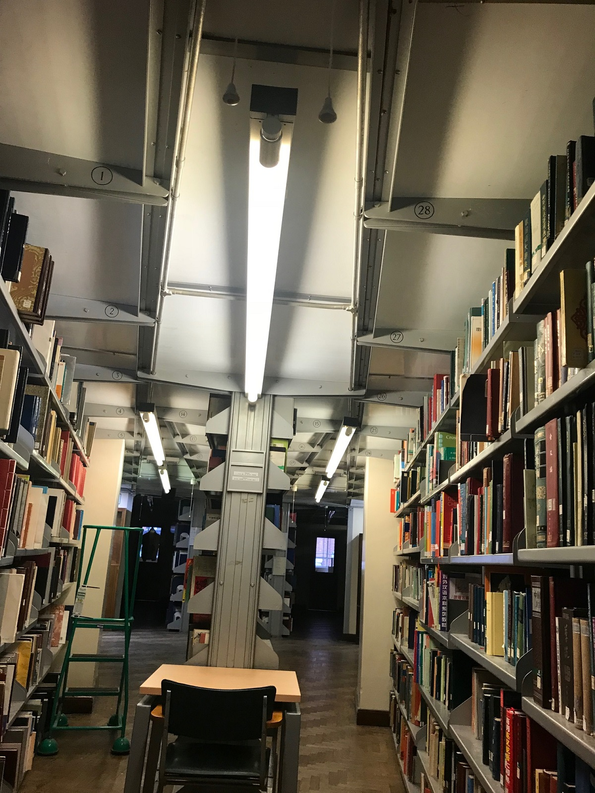 Let there be light!  Library lighting makeover