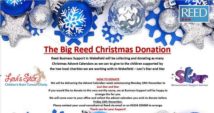 FSH supports The Big REED Christmas Donation