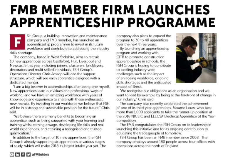 FSH Group - Federation of Master Builders Article
